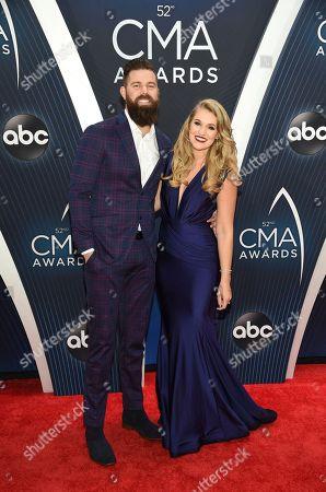 Jordan Davis, Kristen O'Connor. Jordan Davis, left, and Kristen O'Connor arrive at the 52nd annual CMA Awards at Bridgestone Arena, in Nashville, Tenn