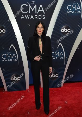 Kasey Musgraves arrives at the 52nd annual CMA Awards at Bridgestone Arena, in Nashville, Tenn