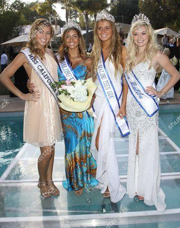 Miss California Tami Farrell, Miss Malibu 2009 Bianca Peters, Miss Teen Malibu 2009 Farah Griffin and Miss Teen Malibu 2008 Greer Grammer