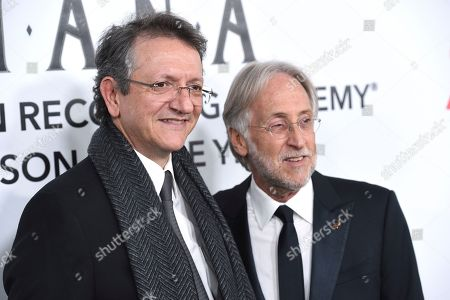Gabriel Abaroa, Neil Portnow. Gabriel Abaroa, president and CEO of the Latin Recording Academy, left, and Neil Portnow, president of the Recording Academy, arrive at the Latin Recording Academy Person of the Year gala honoring Mana at the Mandalay Bay Events Center on