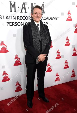 Gabriel Abaroa, president and CEO of the Latin Recording Academy, arrives at the Latin Recording Academy Person of the Year gala honoring Mana at the Mandalay Bay Events Center on