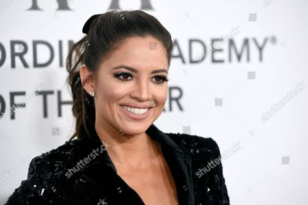 Pamela Silva Conde arrives at the Latin Recording Academy Person of the Year gala honoring Mana at the Mandalay Bay Events Center on