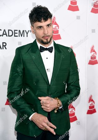 Dante Spinetta arrives at the Latin Recording Academy Person of the Year gala honoring Mana at the Mandalay Bay Events Center on