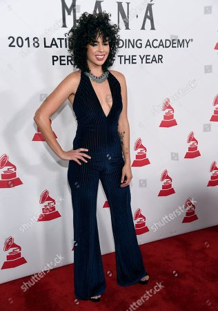 Raquel Sofia arrives at the Latin Recording Academy Person of the Year gala honoring Mana at the Mandalay Bay Events Center on