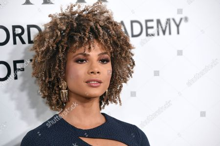 Doralys Britto arrives at the Latin Recording Academy Person of the Year gala honoring Mana at the Mandalay Bay Events Center on