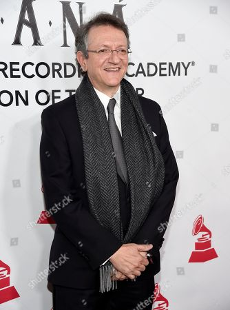 Gabriel Abaroa, president and CEO of the Latin Recording Academy arrives at the Latin Recording Academy Person of the Year gala honoring Mana at the Mandalay Bay Events Center on