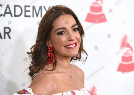 Kika Rocha arrives at the Latin Recording Academy Person of the Year gala honoring Mana at the Mandalay Bay Events Center on