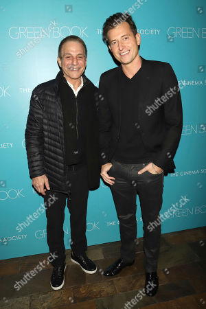 """Tony Danza, Peter Cincotti. Tony Danza, left, and Peter Cincotti attend a special screening of """"Green Book"""", hosted by Universal Pictures and The Cinema Society, at The Roxy Cinema, in New York"""