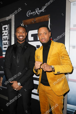 Stock Picture of Michael B. Jordan and Terrence Jenkins