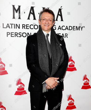 Gabriel Abaroa, President and CEO of the Latin Recording Academy arrives for the 2018 Latin Recording Academy Person of the Year Gala at the Mandalay Bay Convention Center in Las Vegas, Nevada, USA, 14 November 2018. Latin Grammy Awards recognize artistic and/or technical achievement, not sales figures or chart positions, and the winners are determined by the votes of their peers-the qualified voting members of the academy.