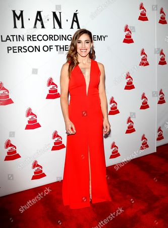 Argentine singer Soledad Pastorutti arrives for the 2018 Latin Recording Academy Person of the Year Gala at the Mandalay Bay Convention Center in Las Vegas, Nevada, USA, 14 November 2018. Latin Grammy Awards recognize artistic and/or technical achievement, not sales figures or chart positions, and the winners are determined by the votes of their peers-the qualified voting members of the academy.
