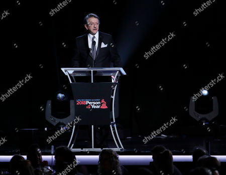 Gabriel Abaroa, president and CEO of the Latin Academy of Recording Arts & Sciences, addresses the attendees to the 2018 Latin Recording Academy Person of the Year Gala at the Mandalay Bay Convention Center in Las Vegas, Nevada, USA, 14 November 2018. Latin Grammy Awards recognize artistic and/or technical achievement, not sales figures or chart positions, and the winners are determined by the votes of their peers-the qualified voting members of the academy.