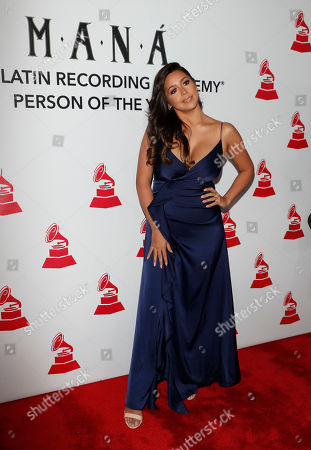 Stock Image of Ydelays arrives for the 2018 Latin Recording Academy Person of the Year Gala at the Mandalay Bay Convention Center in Las Vegas, Nevada, USA, 14 November 2018. Latin Grammy Awards recognize artistic and/or technical achievement, not sales figures or chart positions, and the winners are determined by the votes of their peers-the qualified voting members of the academy.