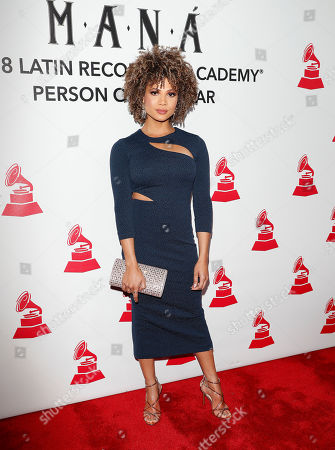 Stock Photo of Doralys Britto arrives for the 2018 Latin Recording Academy Person of the Year Gala at the Mandalay Bay Convention Center in Las Vegas, Nevada, USA, 14 November 2018. Latin Grammy Awards recognize artistic and/or technical achievement, not sales figures or chart positions, and the winners are determined by the votes of their peers-the qualified voting members of the academy.