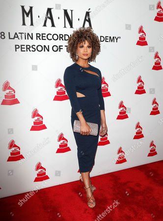 Stock Image of Doralys Britto arrives for the 2018 Latin Recording Academy Person of the Year Gala at the Mandalay Bay Convention Center in Las Vegas, Nevada, USA, 14 November 2018. Latin Grammy Awards recognize artistic and/or technical achievement, not sales figures or chart positions, and the winners are determined by the votes of their peers-the qualified voting members of the academy.