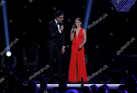 Masters of Ceremony Jaime Camil and Soledad Pastorutti perform at the 2018 Latin Recording Academy Person of the Year Gala honoring Mana at the Mandalay Bay Convention Center in Las Vegas, Nevada, USA, 14 November 2018. Latin Grammy Awards recognize artistic and/or technical achievement, not sales figures or chart positions, and the winners are determined by the votes of their peers-the qualified voting members of the academy.