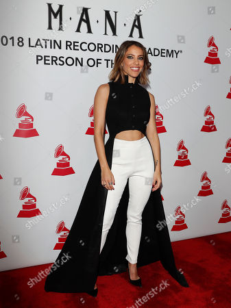 US-Costa singer-songwriter Rican Debi Nova arrives for the 2018 Latin Recording Academy Person of the Year Gala at the Mandalay Bay Convention Center in Las Vegas, Nevada, USA, 14 November 2018. Latin Grammy Awards recognize artistic and/or technical achievement, not sales figures or chart positions, and the winners are determined by the votes of their peers-the qualified voting members of the academy.