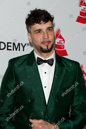 Stock Picture of Argentine singer Dante Spinetta arrives for the 2018 Latin Recording Academy Person of the Year Gala at the Mandalay Bay Convention Center in Las Vegas, Nevada, USA, 14 November 2018. Latin Grammy Awards recognize artistic and/or technical achievement, not sales figures or chart positions, and the winners are determined by the votes of their peers-the qualified voting members of the academy.
