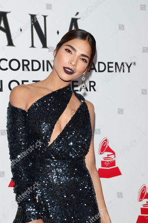 Alejandra Espinoza arrives for the 2018 Latin Recording Academy Person of the Year Gala at the Mandalay Bay Convention Center in Las Vegas, Nevada, USA, 14 November 2018. Latin Grammy Awards recognize artistic and/or technical achievement, not sales figures or chart positions, and the winners are determined by the votes of their peers-the qualified voting members of the academy.