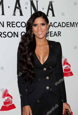 Francisca Lachapel arrives for the 2018 Latin Recording Academy Person of the Year Gala at the Mandalay Bay Convention Center in Las Vegas, Nevada, USA, 14 November 2018. Latin Grammy Awards recognize artistic and/or technical achievement, not sales figures or chart positions, and the winners are determined by the votes of their peers-the qualified voting members of the academy.