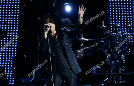 Enrique Bunbury performs at the 2018 Latin Recording Academy Person of the Year Gala honoring Mana at the Mandalay Bay Convention Center in Las Vegas, Nevada, USA, 14 November 2018. Latin Grammy Awards recognize artistic and/or technical achievement, not sales figures or chart positions, and the winners are determined by the votes of their peers-the qualified voting members of the academy.