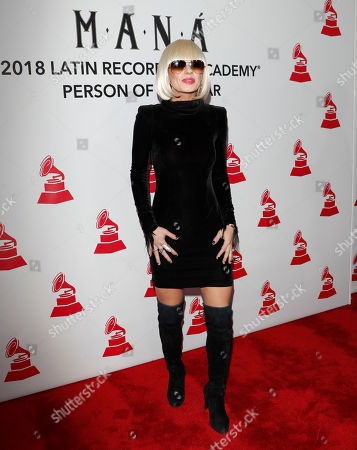 Orianthi arrives for the 2018 Latin Recording Academy Person of the Year Gala at the Mandalay Bay Convention Center in Las Vegas, Nevada, USA, 14 November 2018. Latin Grammy Awards recognize artistic and/or technical achievement, not sales figures or chart positions, and the winners are determined by the votes of their peers-the qualified voting members of the academy.