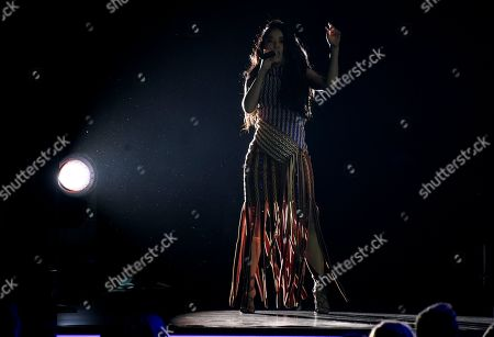 """Beatriz Luengo performs """"Corazon Espinado"""" at the Latin Recording Academy Person of the Year gala honoring Mana at the Mandalay Bay Events Center on"""
