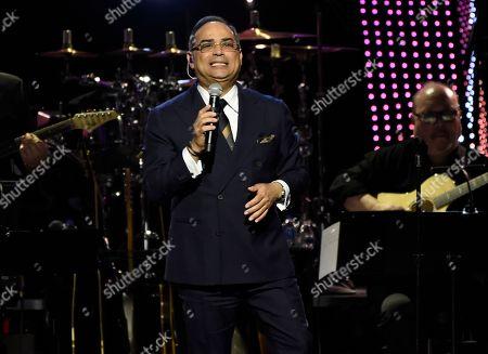 "Gilberto Santa Rosa performs ""Bendita Tu Luz"" at the Latin Recording Academy Person of the Year gala honoring Mana at the Mandalay Bay Events Center on"
