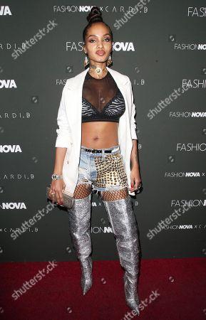 Editorial photo of Fashion Nova x Cardi B launch event, Los Angeles, USA - 14 Nov 2018