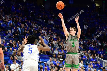North Dakota Fighting Hawks guard Billy Brown (3) takes a shot during a NCAA men's college basketball game between the University of North Dakota Fighting Hawks and Kentucky Wildcats at Rupp Arena in Lexington, KY. Kentucky won 96-58