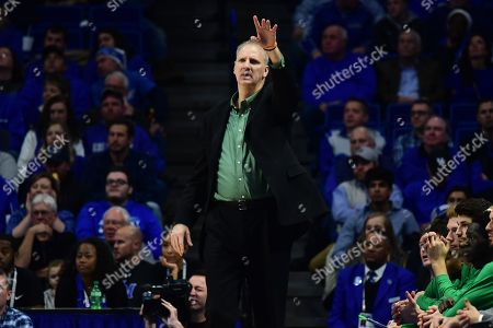 North Dakota Head Coach Brian Jones instructs his team during a NCAA men's college basketball game between the University of North Dakota Fighting Hawks and Kentucky Wildcats at Rupp Arena in Lexington, KY. Kentucky won 96-58