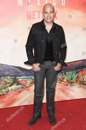 "Stock Photo of Philip Anthony-Rodriguez attends Netflix's ""Narcos: Mexico Season 1"" premiere event at Regal Cinemas L.A. LIVE, in Los Angeles"