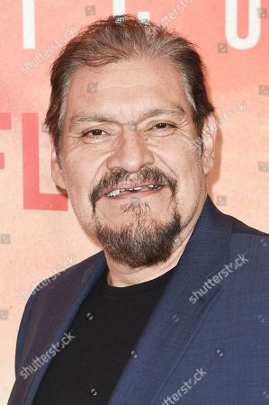 "Joaquin Cosio attends Netflix's ""Narcos: Mexico Season 1"" premiere event at Regal Cinemas L.A. LIVE, in Los Angeles"
