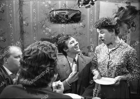 Barry Stanton (as Albert Cook), Graham Weston (as Arthur Cook), Philip Lowrie (as Dennis Tanner) and Jessie Evans (as Mrs Cook)