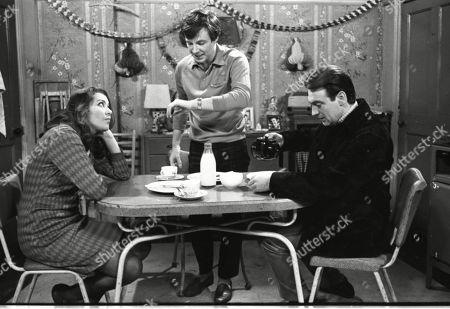 Anne Cunningham (as Linda Cheveski), Philip Lowrie (as Dennis Tanner) and Ernst Walder (as Ivan Cheveski)
