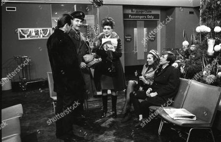 Ernst Walder (as Ivan Cheveski), Paul Maxwell (as Steve Tanner), Pat Phoenix (as Elsie Tanner), Anne Cunningham (as Linda Cheveski) and Philip Lowrie (as Dennis Tanner)