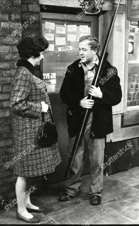 Ruth Holden (as Vera Lomax) and Graham Haberfield (as Jerry Booth)