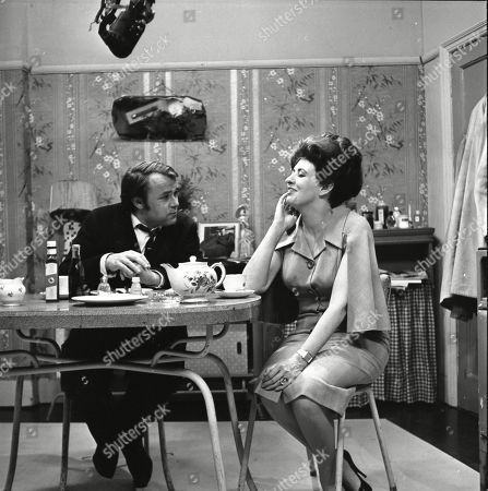Jack Smethurst (as Percy Bridge) and Pat Phoenix (as Elsie Tanner)