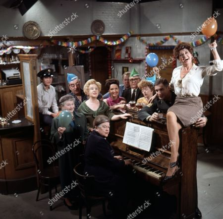 Jennifer Moss (as Lucille Hewitt), Margot Bryant (as Minnie Caldwell), Bernard Youens (as Stan Ogden), Violet Carson (as Ena Sharples), Doris Speed (as Annie Walker), Eileen Derbyshire (as Emily Nugent), Graham Haberfield (as Jerry Booth), Arthur Leslie (as Jack Walker), Jean Alexander (as Hilda Ogden), Paul Maxwell (as Steve Tanner) and Pat Phoenix (as Elsie Tanner)
