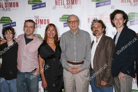 Noah Robbins, Director David Cromer, Laurie Metcalf, Neil Simon, Dennis Boutsikaris and  Josh Grisetti