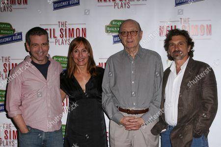 David Cromer, Laurie Metcalf, Neil Simon and Dennis Boutsikaris