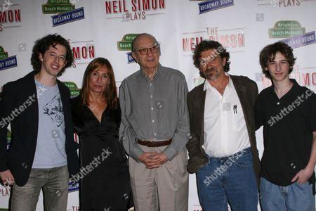 Josh Grisetti, Laurie Metcalf, Neil Simon, Dennis Boutsikaris and Noah Robbins