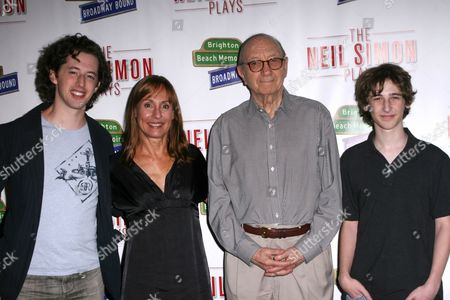 Josh Grisetti, Laurie Metcalf, Neil Simon and Noah Robbins