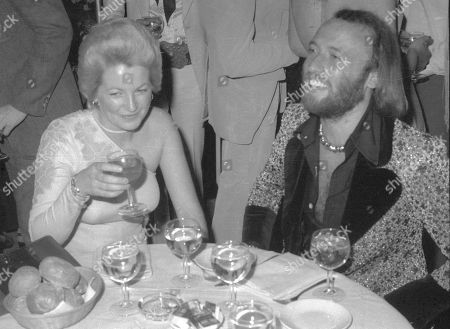 Maurice Gibb and wife
