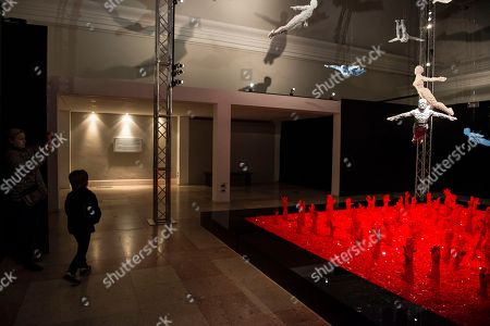 Views of 'The Art of the Brick' exhibition by the artist Nathan Sawaya who uses Lego bricks as the only artistic means