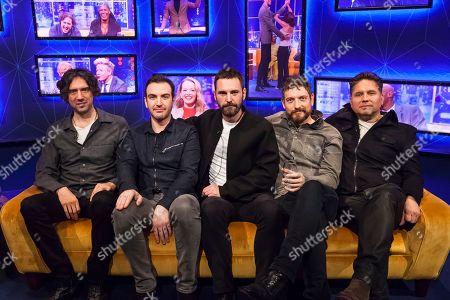 Stock Image of Snow Patrol, Gary Lightbody, Nathan Connolly, Paul Wilson, Johnny McDaid, Jonny Quinn