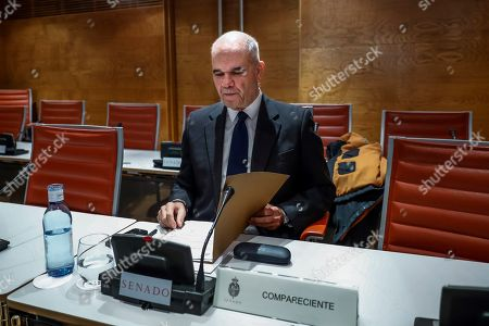 Former Andalusian regional president Manuel Chaves attends the parliamentary committee created to investigate the funding of the political parties, in Madrid, Spain, 15 November 2018. Chaves is also accused for his role in the Andalusian regional employment regulation scandal so-called ERE case.