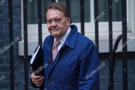 Britain's Conservative party John Hayes MP arrives in Downing Street, Central London, Britain, 15 November 2018. British Prime Minister Theresa May is facing pressure after six ministers had resigned earlier in the day over her Brexit deal.