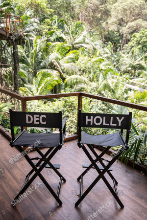 Stock Image of The studio chairs of Declan Donnelly and Holly Willougby