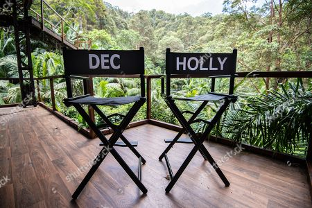 The studio chairs of Declan Donnelly and Holly Willougby